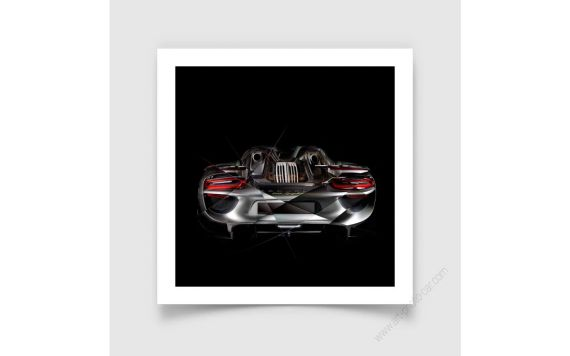 Art Photo Porsche 918 back