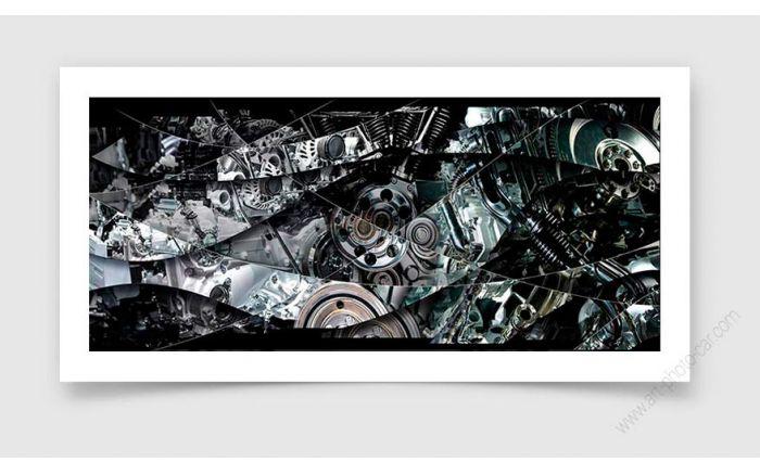 Tirage d'art mécanique, de moteur - Photographie signée & limitée