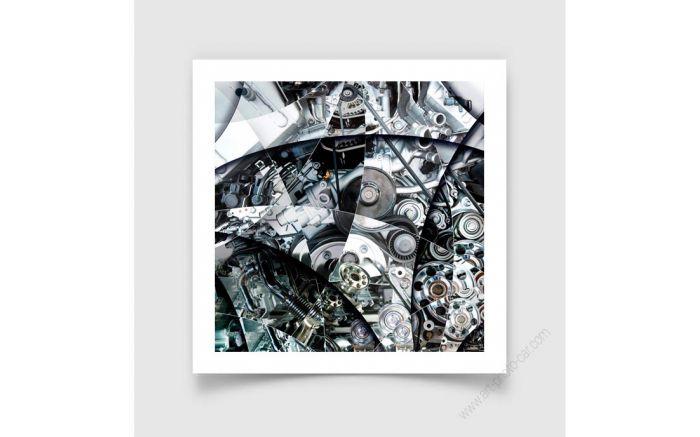 Fine Art Print of an engine