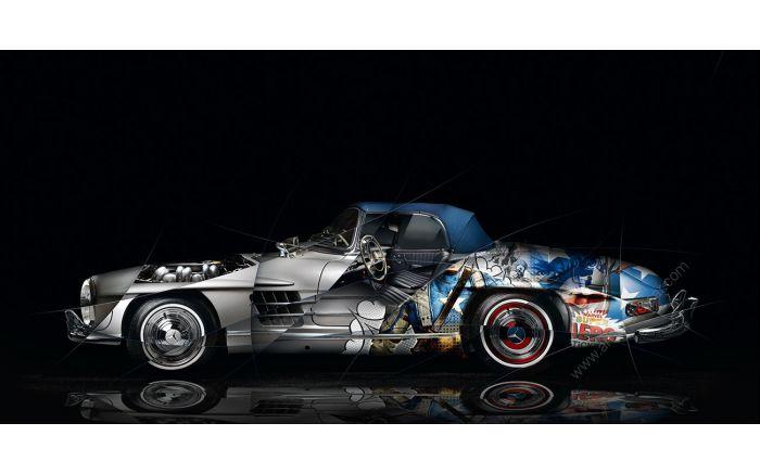 Photographie d'art Mercedes 300 SL Pop Art