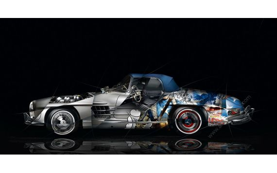 Photographie d'art Mercedes 300 SL Pop Art