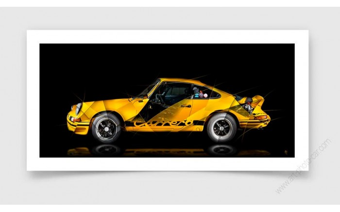 Tirage d'art Porsche 911 GT2 RS type 991 White Edition