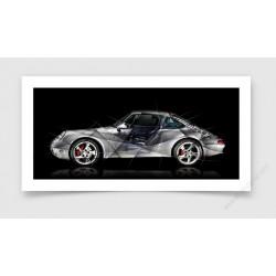 Fine Art Print Porsche 911 type 993
