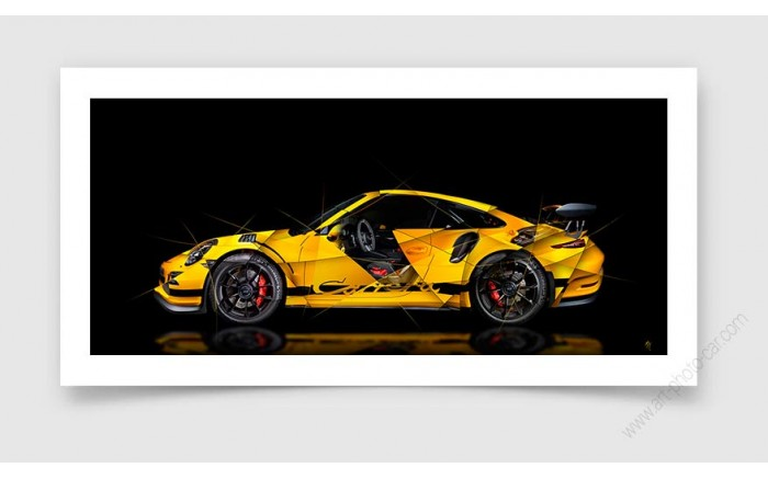 Porsche 911 GT3RS Super Car Sports Car Pop Art Limited Edition Signed Art Prints