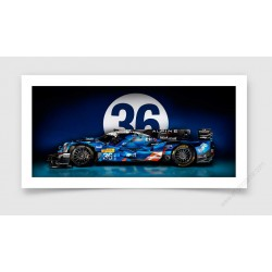 Tirage d'art Alpine A460 LMP2