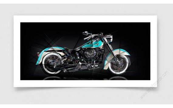 Tirage d'art Harley Davidson Softail Heritage