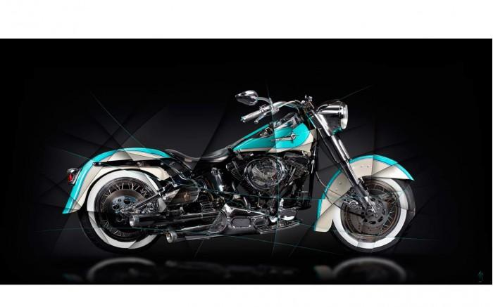 Harley Davidson Softail Heritage Photographie d'Art