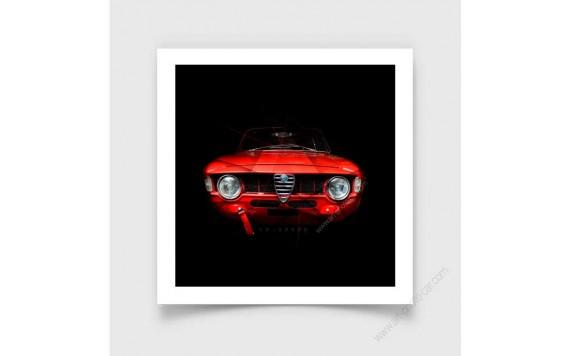 Tirage d'art Alfa Romeo Giulia 1600
