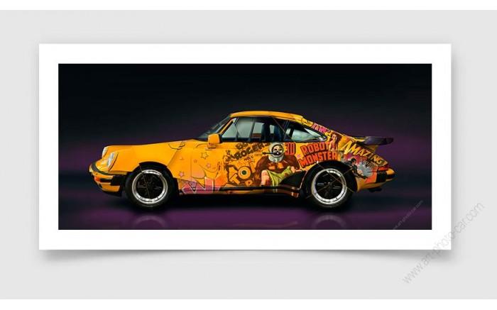 Tirage d'art Porsche 911 type 930 Turbo 1988 II