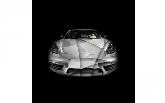 Art photography Porsche 718 Cayman S limited edition