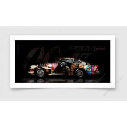 Fine Art Print Aston Martin DB5 007 Pop Art
