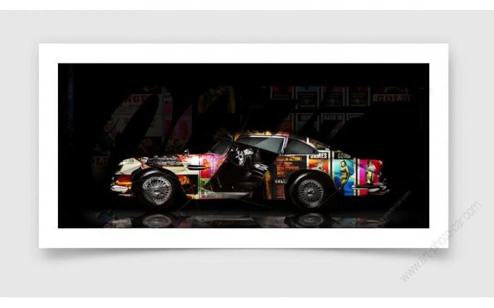 Tirage d'art Aston Martin DB5 JAMES BOND