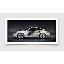 Fine Art Print Porsche 911 996 TURBO