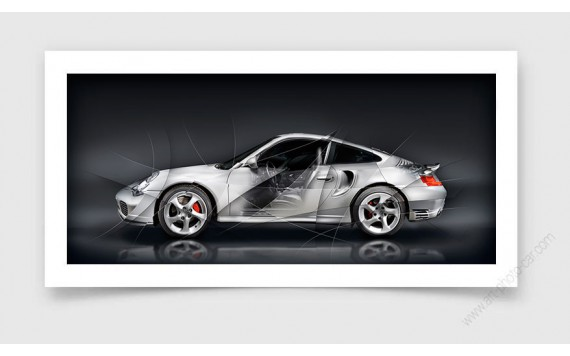 Tirage d'art PORSCHE 911 996 TURBO