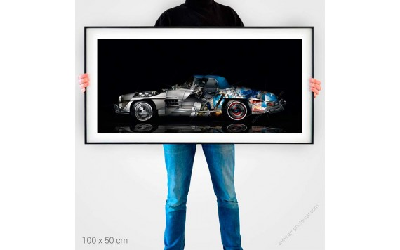 Fine Art Print Mercedes 300 SL Pop Art