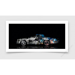Tirage d'art Mercedes 300 SL Pop Art