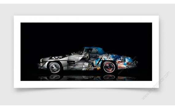 Fine Art Print Mercedes 300 SL Pop Art