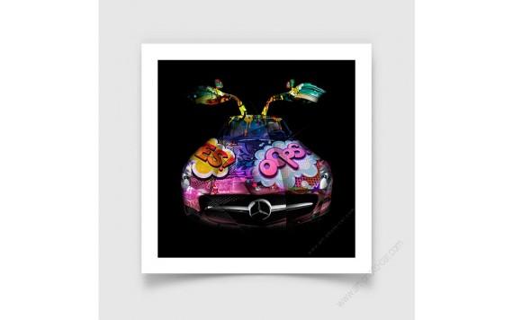 Fine Art Print Mercedes SLS Pop Art