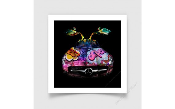 Fine Art Print Mercedes SLS Pop Art