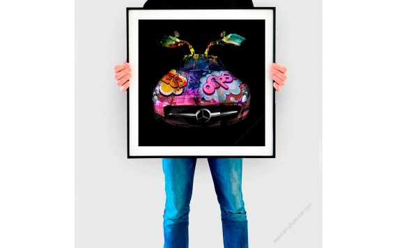 Tirage d'art Mercedes SLS Pop Art