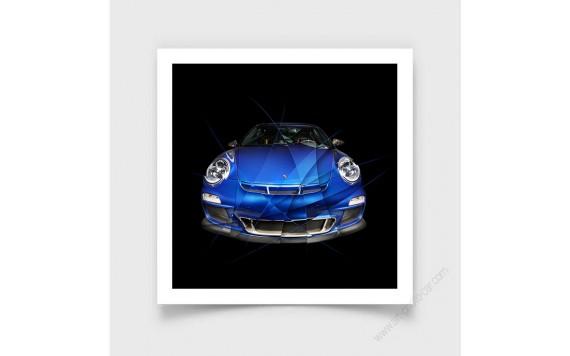 Tirage d'art Porsche 911 997 GT3 Edition Bleue