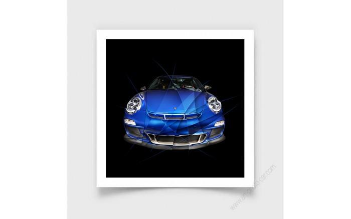 Fine Art Print Porsche 911 997 GT3 Bleu Edition