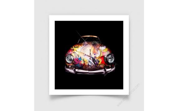 Fine Art Print Porsche 356 Pop Art