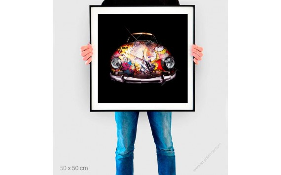 Tirage d'art Porsche 356 Pop Art
