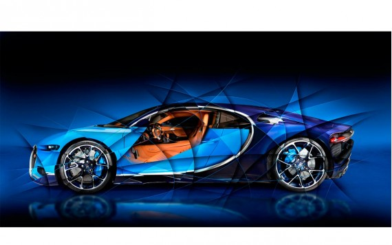 Art photography Bugatti Chiron N°1