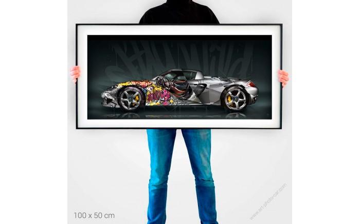 Tirage d'art Porsche Carrera GT Pop Art