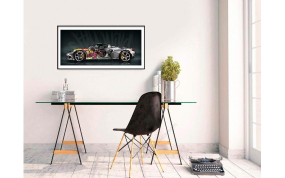 Tirage d'art Porsche Carrera GT Pop Art