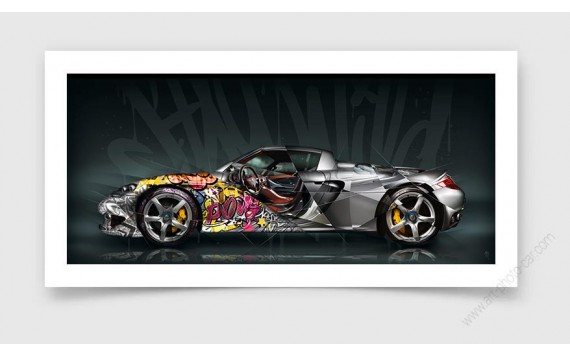 Fine Art Print Porsche Carrera GT Pop Art