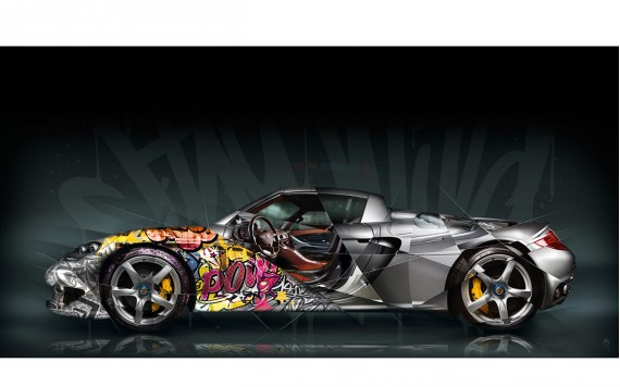 Tableau Porsche Carrera GT Pop Art