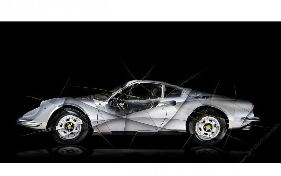 Ferrari Dino 246 GT Photographie d'Art