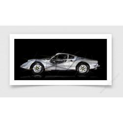 Tirage d'art Ferrari Dino 246 GT