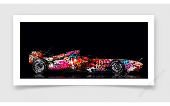 Fine Art Print Ferrari F248 F1 Pop Art