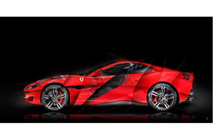 Art photography Ferrari Portofino