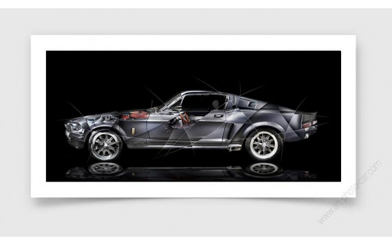 Tirage d'art Ford Mustang Shelby GT500 Eleanor