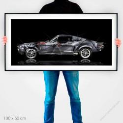 Fine Art Print Ford Mustang