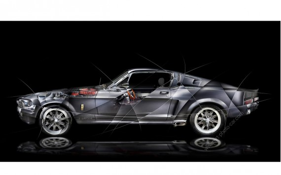 Art photography Ford Mustang Shelby GT500 Eleanor