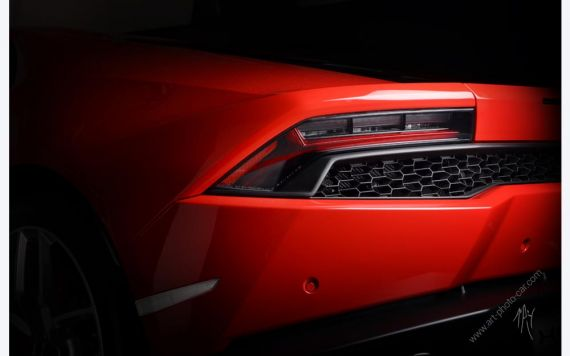Lamborghini Huracan rouge photo I