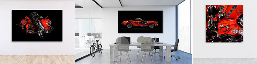 Corvette Limited signed automotive car artwork fine art print