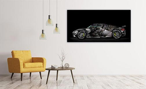 Porsche 918 photography painting