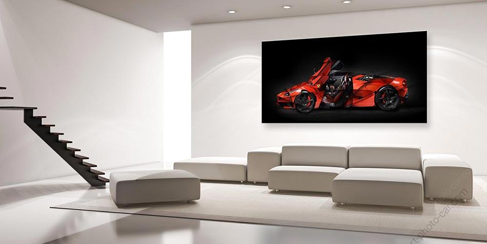 Tableau Ferrari art signé et limité