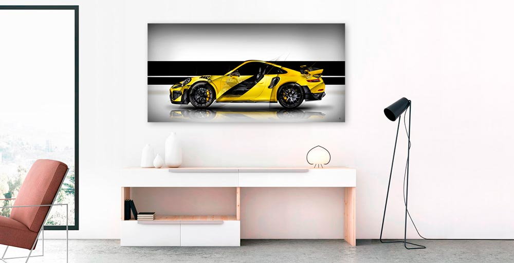 Tableau photo automobile sur-mesure