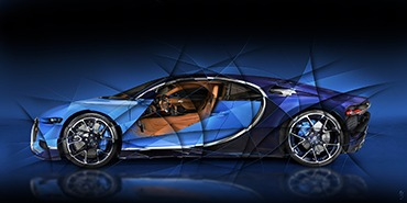MEETING BETWEEN THE ARTIST AMAURY DUBOIS & THE BUGATTI CHIRON N°1